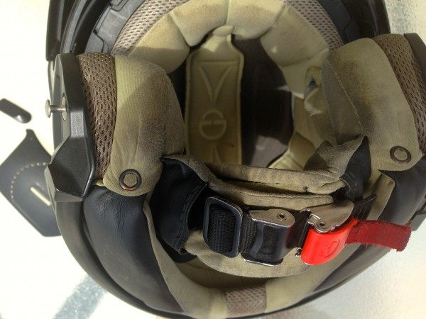My Schuberth C3W interior after 10K of use
