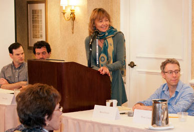 Carla King leads a panel discussion of self-publishing experts